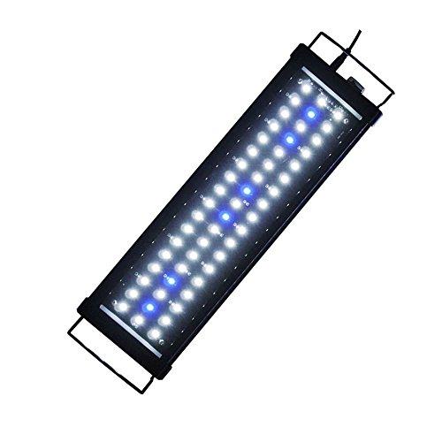 ETiME Aquarium Beleuchtung LED Aufsetzleuchte Wasserdicht Lampe IP67 Aquairumlampe für 45-65cm Aquarium (45-65cm)