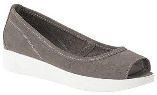Sandale talon haut de Best Connexions Cuir velours Gris - Gris