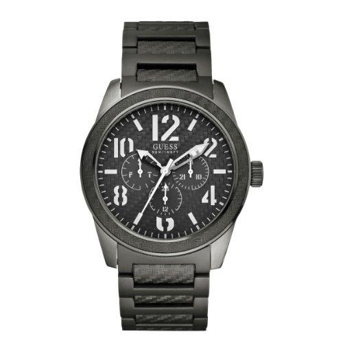 Guess - W15073G2 - Montre Homme - Quartz Analogique - Cadran Gris - Bracelet Acier Gris