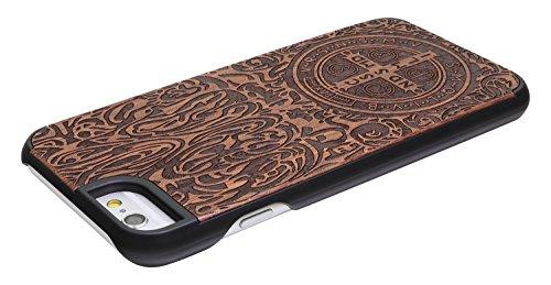"""eimo Apple iPhone 6 Plus 5.5"""" Original Cover Case bois avec bords noirs et d'absorption des chocs Couche pour iPhone 6 Plus 5.5 pouces-38 42"""