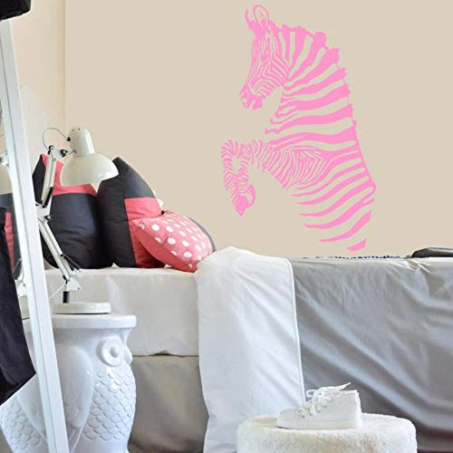 JJHR Wandtattoos Wandaufkleber Wandtattoo Zebra Streifen Wilde Tiere Safari Aufkleber Dekoration Kunst Zimmer Kinder Wohnzimmer Wandbilder 42 * 66 cm, B
