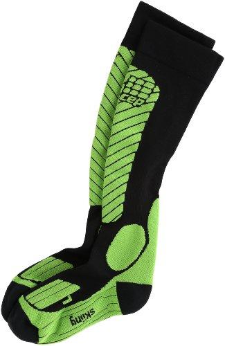 CEP Kompressionssocken Skistrümpfe race skiing socks schwarz grün women Gr.IV (Ski Socke Race)