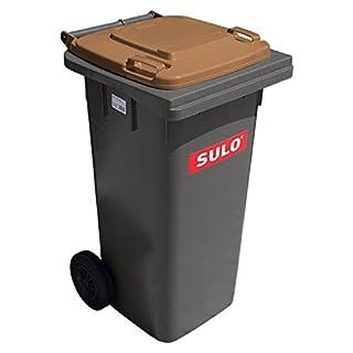 SULO Mülltonne MGB 120 grau mit Deckel braun