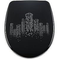 DIAQUA Nice abattant WC avec système d'abaissement automatique Slow-Motion Nightlife 40, 5–46 x 37,5 cm 31171231