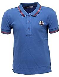 MONCLER 4279X Polo Bimbo Maglia Boy Blue Polo t-Shirt