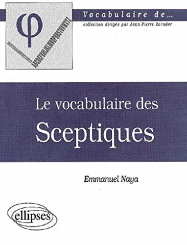 [EPUB] Le vocabulaire des sceptiques