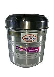 Vinvarun Stainless Steel Kitchen Storage Container, Silver, 4 Pieces