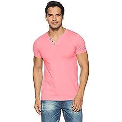 Chromozome Men's T-Shirt (8902733371391_OS2_Large_Rose Pink)