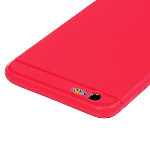 3x Cover iPhone 6s Plus, iPhone 6 Plus Custodia Silicone Morbido Trasparente TPU Flessibile Gomma design IMD - MAXFE.CO Case Ultra Sottile Cassa Protettiva per iPhone 6 Plus / 6S Plus - Penguin, macar Rosso, Rosa, Blu