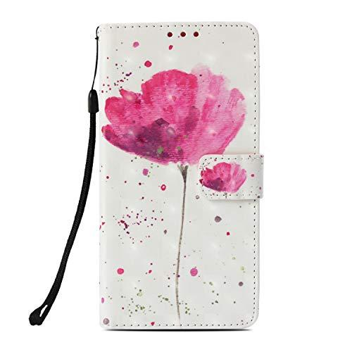 Shinyzone Flip Brieftasche Hülle für LG X Power 3,Blume 3D Bunt Gemälde Ledertasche mit...