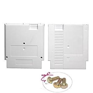 Childhood Weiß Hard Case Cartridge Shell Ersatz für NES Entertainment System mit 3pcs Sicherheitsschrauben