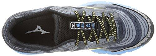 Mizuno Wave Kazan Synthétique Chaussure de Course Grey-Yellow-Blue
