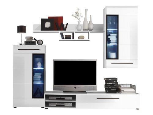 Furnline Skin High Gloss Tv Stand Wall Unit Living Room Furniture
