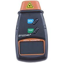 Tacometro - SODIAL(R) Profesional Digital Tacometro de foto laser Sin contacto RPM Tacometro Naranja + Negro