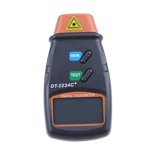 Tachometer - TOOGOO(R)Professionelle Digitale Laser Foto Tachometer Nicht-Kontakt RPM Tach Orange + Schwarz (Kontakt-tachometer)