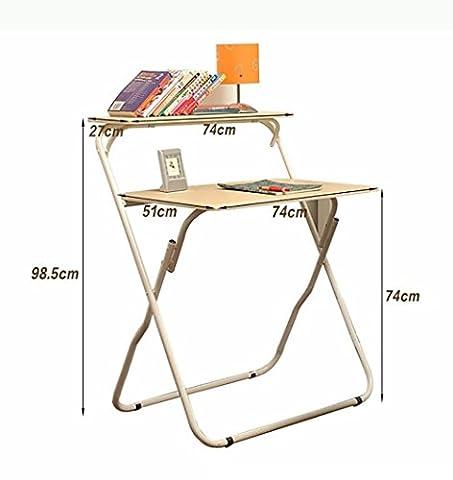 Klapptisch Studiertisch Büro Tisch Computer Schreibtisch Beige Faserplatte (Büro Platz Klapptisch)