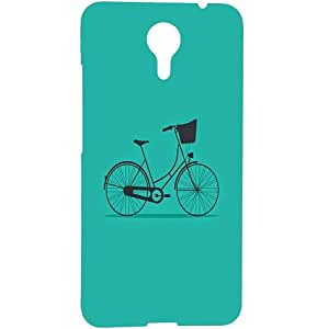 Casotec Lets Cycle Pattern Design 3D Hard Back Case Cover for Micromax Canvas Xpress 2 E313
