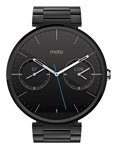 Dark-metal-finish (Motorola Moto 360 Metal Edition Dark-Finish Smartwatch (Metal Band, 23 mm))