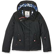 Roxy Roxy JettySolid - Chaqueta de nieve para niña, color negro, talla S