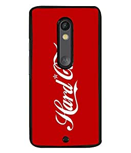 PrintVisa Designer Back Case Cover for Motorola Moto X Play (Hard Core Manly Special Cola Font )