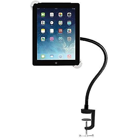 BESTEK Soporte Montaje del Perno de la Abrazadera con Abrazo Flexible Usado en Asiento y Escritorio para iPad Pro, iPad 2/3/4, iPad Mini/ iPad Mini 2/ iPad Mini 3, iPad Air/iPad Air 2 y otras tabletas de 6,4-12,2 pulgadas. MRH0002