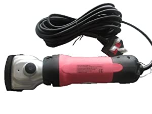 Pink Professional Heavy Duty Horse Cattle Dog Sheep Clipper Trimmer 350W 2500RPM Power Adjustable With 2 Blades And Extras by KMS