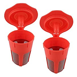 2 PCS Reusable Coffee Filter Cup for Keurig K Cup 2.0 K500 K400 K300 K200 Series of Machines 41typIFEDeL
