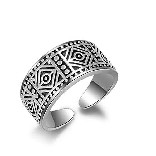 Xcwxm anelli eleganti polsini aperti anelli retrò delicati sculture di fiori unisex donna/uomo cosplay anelli a fascia larga @ a