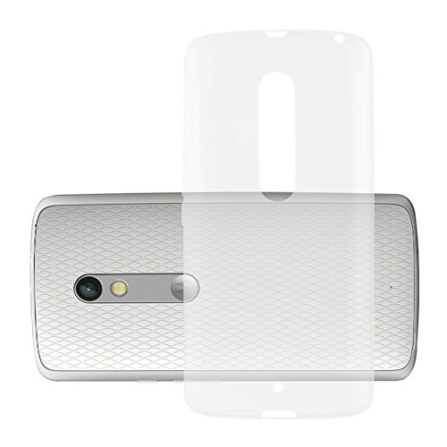 Cadorabo Hülle für Motorola Moto X Play - Hülle in VOLL TRANSPARENT - Handyhülle aus TPU Silikon im Ultra Slim 'AIR' Design - Silikonhülle Schutzhülle Soft Back Cover Case Bumper