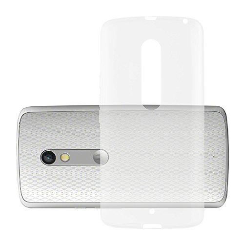 Cadorabo Hülle für Motorola Moto X Play - Hülle in VOLL TRANSPARENT – Handyhülle aus TPU Silikon im Ultra Slim 'AIR' Design - Silikonhülle Schutzhülle Soft Back Cover Case Bumper