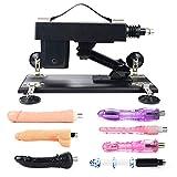 QUIWOO automatische Sexmaschine für Frauen und Lesben, automatische ausziehbare, mehrwinkelverstellbare weibliche G-Punkt-Masturbationsmaschine mit einer Vielzahl von verschiedenen Dildos.