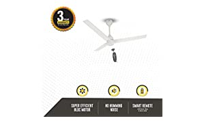 Gorilla Renesa Energy Saving 5 Star Rated 1200 Mm Ceiling Fan with Remote Control and Bldc Motor - White