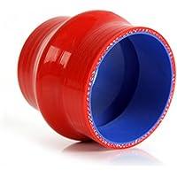 Speedmotor gobba 6,3cm 64mm dritto tubo in silicone Intercooler accoppiatore tubo, rosso
