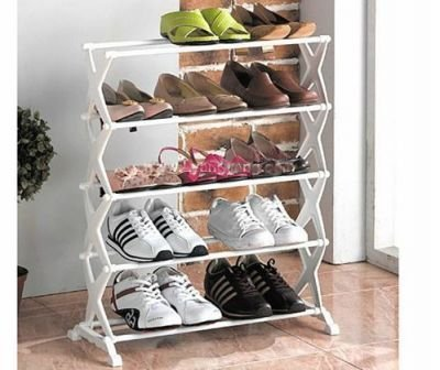 Inditradition Shoe Rack Durable With Aluminium Rod & Plastic Base (5 Racks)