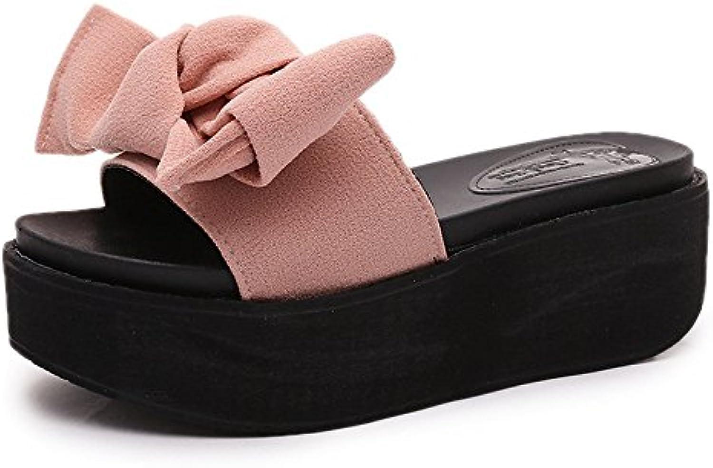QXH Chaussures de Plage    s Femmes Talon Haut Tête Ronde de Couleur SolideB07CK28D9RParent 8029dc