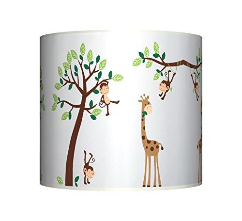 cheeky-monkey-on-tree-ceiling-lampshade-10-drum-baby-boys-girls-nursery-lamp-shade