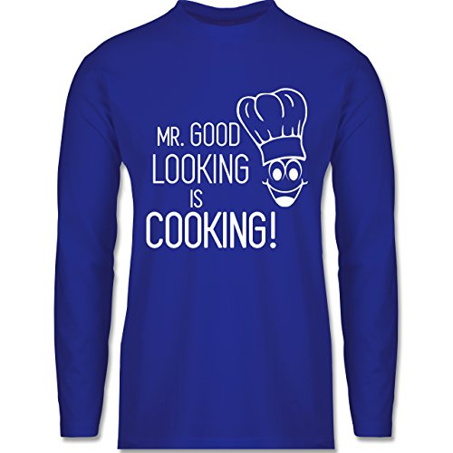 Küche - Mr. Good Looking is cooking - Longsleeve / langärmeliges T-Shirt für Herren Royalblau