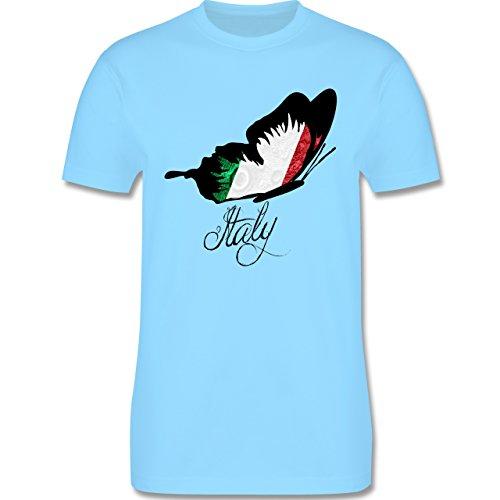 EM 2016 - Frankreich - Italy Schmetterling - Herren Premium T-Shirt Hellblau