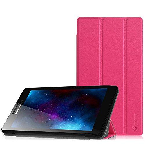Fintie Lenovo Tab 2 A7-10 Hülle Case - Ultra-schlank superleicht Ständer SlimShell Cover Schutzhülle Etui Tasche für Lenovo Tab 2 A7-10 17,8 cm (7 Zoll IPS) Tablet, Magenta