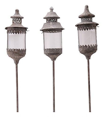 Stablaterne aus Metall - 131 cm hoch - Vintage - Windlicht - Gartenfackel