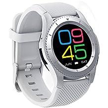Bluetooth reloj inteligente, ds-mart reloj de pulsera G8pantalla táctil reloj teléfono móvil inteligente con ranura para tarjeta SIM corazón tasa, presión arterial Monitor de Oxígeno y para todos los Android y iOS Teléfono