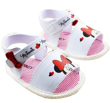 Baby Bucket Pre-Walker Sandal Shoes Light Weight Soft Sole Booties Sandal (White, 10-15 Months)  available at amazon for Rs.360