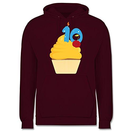 Geburtstag - 10. Geburtstag Cupcake - Männer Premium Kapuzenpullover / Hoodie Burgundrot
