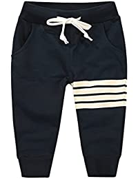 Loveble Little Kids Boys Spring/Summer/Autumn Cotton Stripe Printed Full Length Pant Trousers Age 1-10 Years