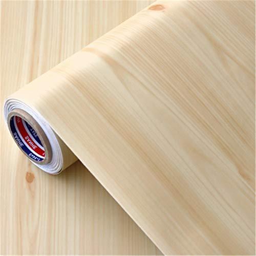 Unterhaltung Schrank Möbel (Wasserdichte PVC haben Kleber Tapeten Schlafsaal Holzmaserung Möbel Renovierung Aufkleber Schränke Kleiderschrank Schlafzimmer Tür Paste, B2m lang 60cm breit)