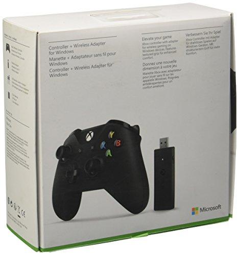 Microsoft Manette Xbox One avec Adaptateur sans Fil pour PC - Noir