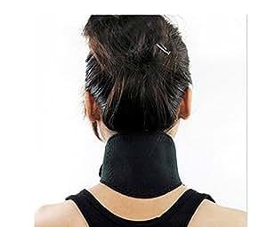 Nackenwärmer Halswärmer Nackenbandage Magnetfeldtherapie Turmalin Thermal Nackenstütze Pad Neck Support (schwarz)