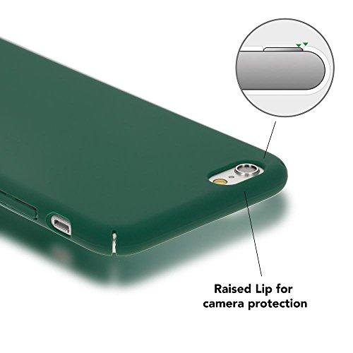 iPhone 6 6S Hülle Handyhülle von NICA, Dünnes Hard-Case Schutzhülle Matt, Ultra-Slim Cover Etui leichte Handy-Tasche, Ultra-Slim Phone Backcover Skin Bumper für Apple iPhone-6S 6, Farbe:Grün Grün