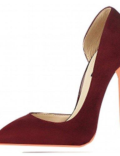 WSS 2016 Chaussures Femme-Mariage / Bureau & Travail / Habillé / Décontracté / Soirée & Evénement-Noir / Rouge / Gris / Bordeaux-Talon Aiguille- gray-us12 / eu44 / uk10 / cn46