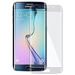 SNOOGG Samsung Galaxy s6 EdgeFull Body Tempered Glass Screen Protector [ Full Body Edge to Edge ] [ Anti Scratch ] [ 2.5D Round Edge] [HD View] - White